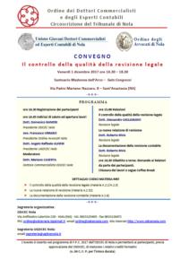 Controllo della qualità della revisione legale: a Madonna dell'Arco in un convegno